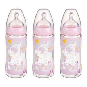 1.3 Nuk First Choice Box 3 Biberons Rose 300 mL