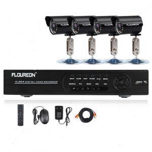 1.3 Floureon Kit de vidéosurveillance 8CH