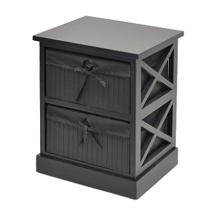 3.Commode noire table de chevet