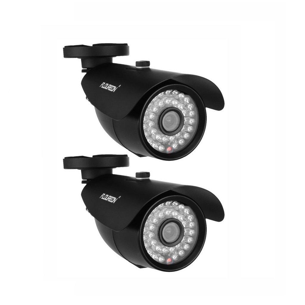A.1 FLOUREON Lot de 2 Caméras de Surveillance Extérieur 1000LTV