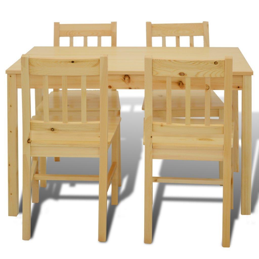 A.1 vidaXL Table à manger avec 4 chaises