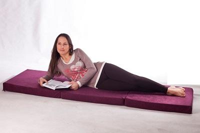 3.Matelas lit futon pliable pliant 195 x 65 x 10 cm choix des couleurs