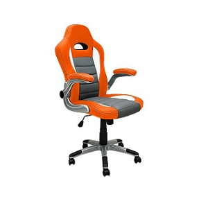 3.Fauteuil de bureau gris orange au look sport