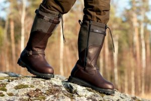 bottes chaudes cuir homme chasse