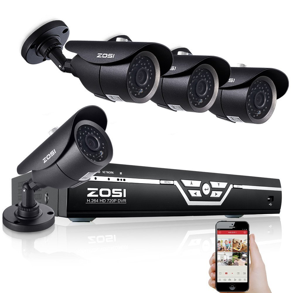 syst me de surveillance zosi 8ch 4cam no hdd avis tests. Black Bedroom Furniture Sets. Home Design Ideas