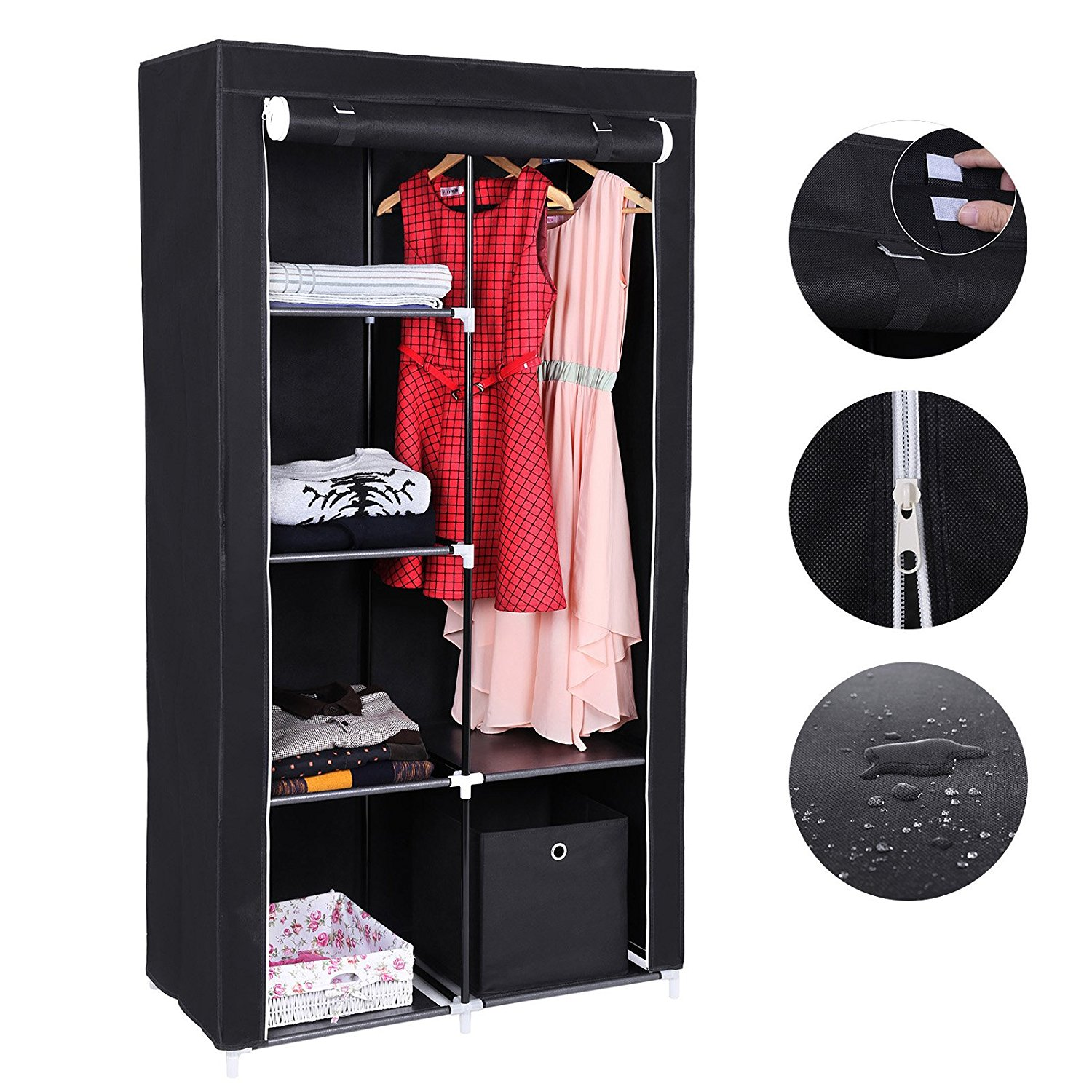 armoire penderie pas ch re notre avis en juin 2018. Black Bedroom Furniture Sets. Home Design Ideas