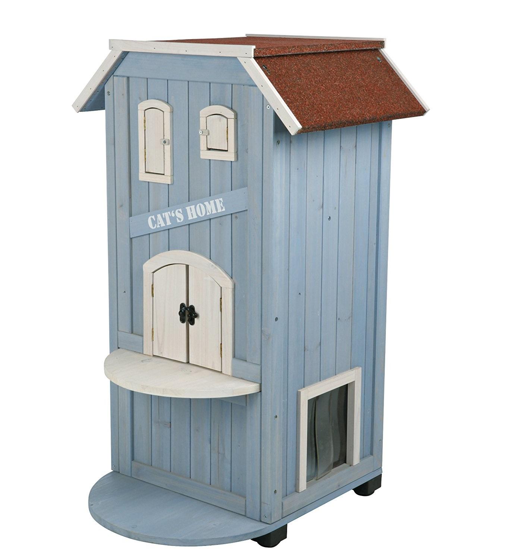 maison en bois pour chat guide d achat pour en choisir. Black Bedroom Furniture Sets. Home Design Ideas