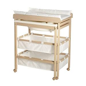 Les meilleures tables langer avec baignoire coulissante - Table a langer en bois avec baignoire ...
