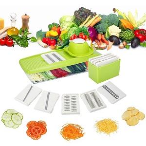 e96116b628f3f Cette râpe vous servira à varier vos préparations en coupant différemment  les nourritures. Il est fourni avec 5 lames interchangeables qui sont en  acier ...