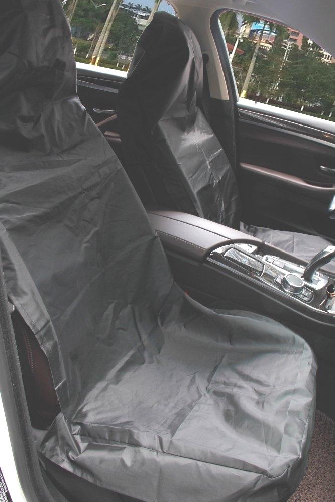 Housse de Si/ège Auto Nylon Amovible Universelle Convient Protecteur de Si/ège V/éhicule 2 x avant Housse de si/ège Noir Ultra L/éger /étanche Housse de Si/ège Protection Migimi Housse Siege Voiture