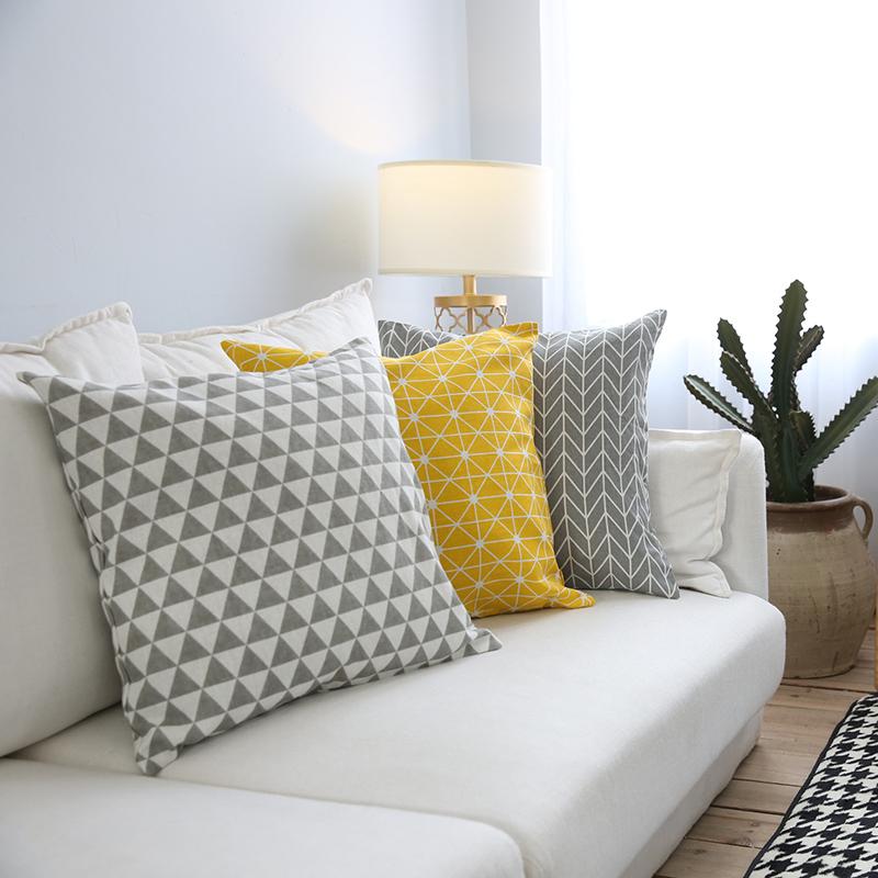mais facile à nettoyer 40x40cm Coussin housse taie d/'oreiller chaud jaune tissés